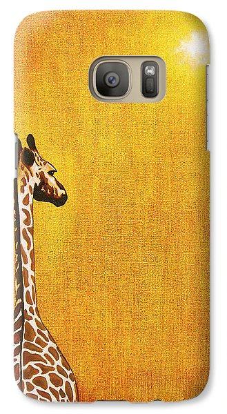 Giraffe Looking Back Galaxy S7 Case by Jerome Stumphauzer