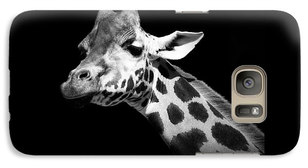 Great White Shark Galaxy S7 Case - Portrait Of Giraffe In Black And White by Lukas Holas