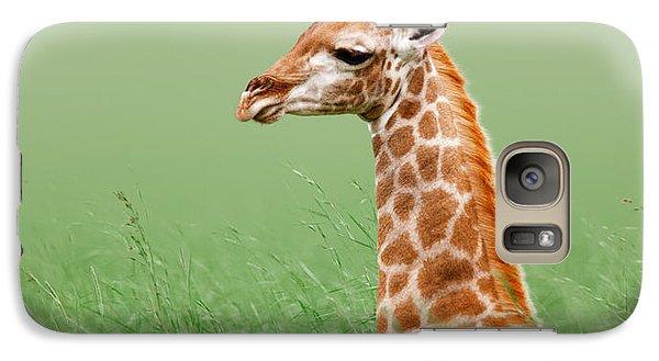 Giraffe Lying In Grass Galaxy S7 Case