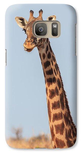 Giraffe Tongue Galaxy S7 Case by Adam Romanowicz