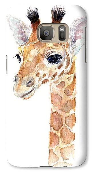 Giraffe Watercolor Galaxy S7 Case