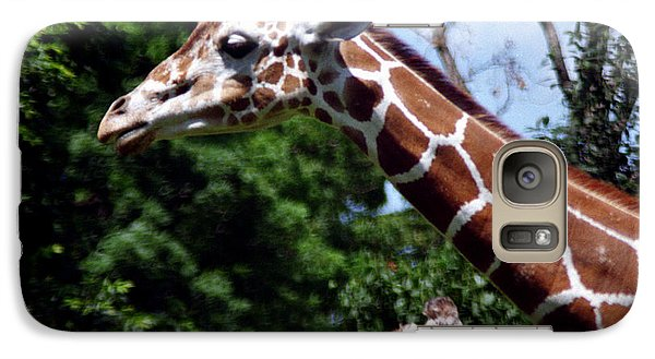 Galaxy Case featuring the photograph Giraffes Coming And Going by Tom Brickhouse