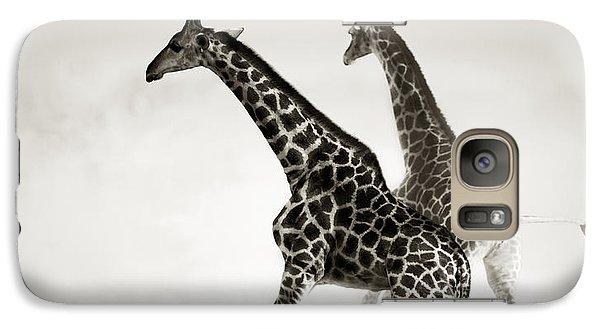 Giraffes Fleeing Galaxy S7 Case