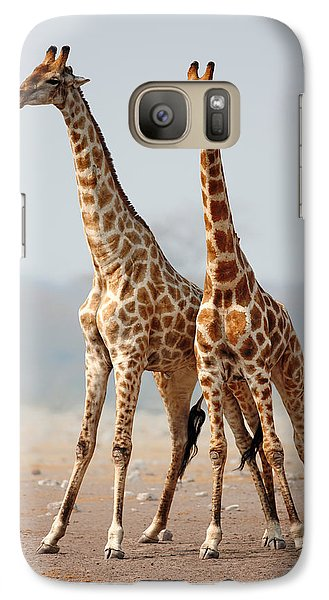 Giraffes Standing Together Galaxy S7 Case