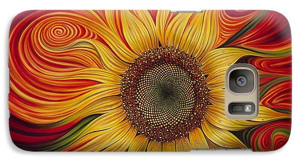 Sunflower Galaxy S7 Case - Girasol Dinamico by Ricardo Chavez-Mendez