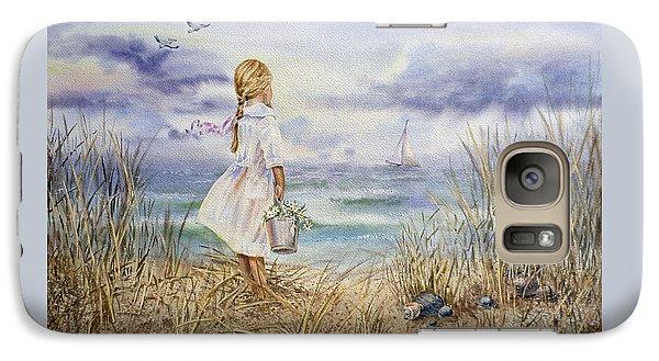 Girl At The Ocean Galaxy S7 Case by Irina Sztukowski
