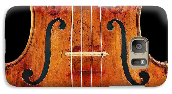 Galaxy Case featuring the digital art Girl In A Violin by David Blank