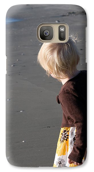 Galaxy Case featuring the photograph Girl On Beach II by Greg Graham