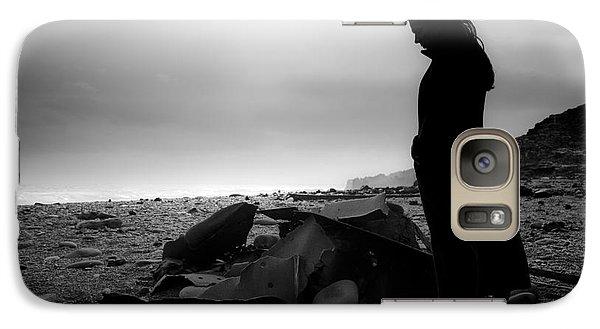 Galaxy Case featuring the photograph Girl On The Beach by Gunnar Orn Arnason