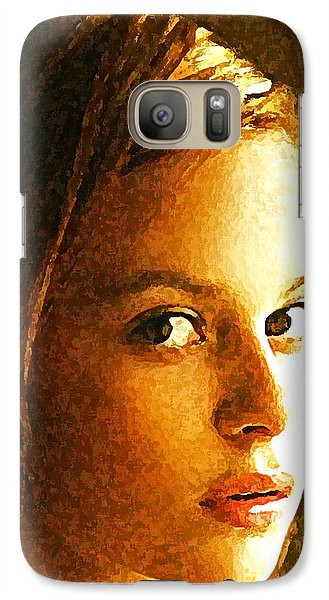 Galaxy Case featuring the painting Girl Sans by Richard Thomas