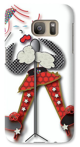 Girl Singer Dress Galaxy S7 Case by Marvin Blaine