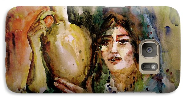 Galaxy Case featuring the painting Girl With A Jug. by Faruk Koksal