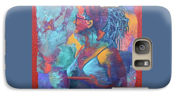 Galaxy Case featuring the painting Girl With Dreads by Nancy Jolley