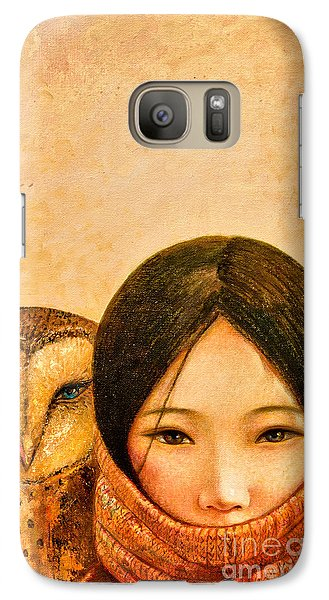 Girl With Owl Galaxy S7 Case