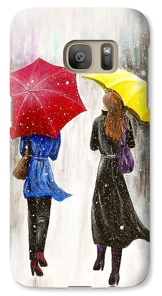 Galaxy Case featuring the painting Girlfriends by Kume Bryant