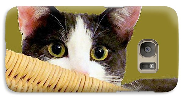 Galaxy Case featuring the photograph Girlie Cat  by Janette Boyd