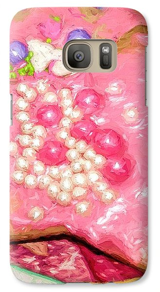 Galaxy Case featuring the painting Girly Pink Frosted Sugar Cookies by Tracie Kaska