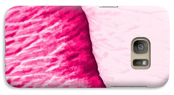 Galaxy Case featuring the painting Girly Pink Rose Abstract by Tracie Kaska