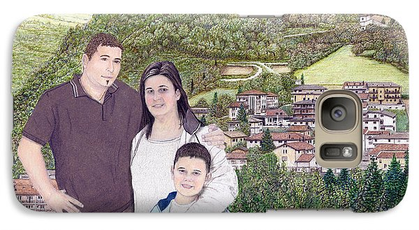 Galaxy Case featuring the painting Giusy Mirko And Simone In Valle Castellana by Albert Puskaric