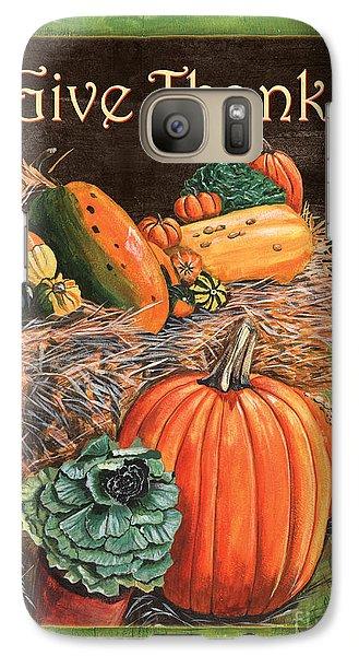 Give Thanks Galaxy Case by Debbie DeWitt