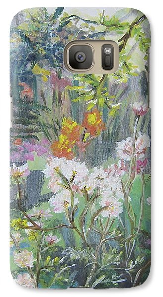 Galaxy Case featuring the painting Giverny In Autumn by Julie Todd-Cundiff