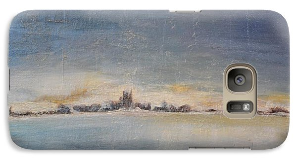 Galaxy Case featuring the painting Glacial Perspective by Lori Jacobus-Crawford