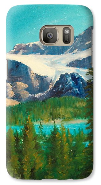 Galaxy Case featuring the painting Glacier by Ellen Canfield