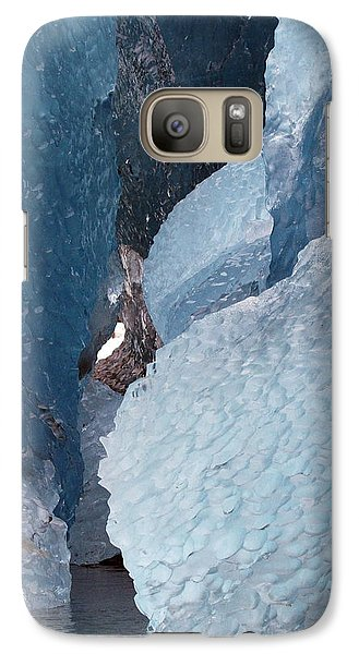 Galaxy Case featuring the photograph Glacier Ice Blues by Myrna Bradshaw