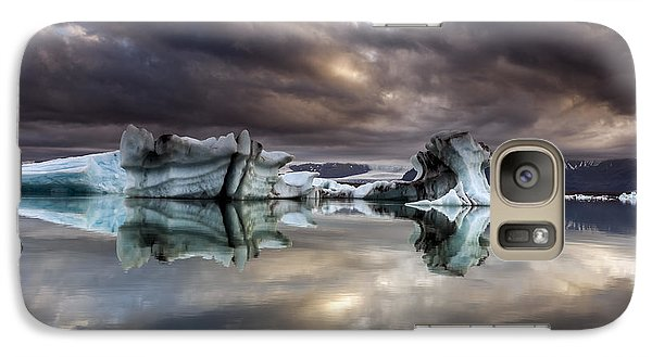 Galaxy Case featuring the photograph Glacier In Water by Gunnar Orn Arnason