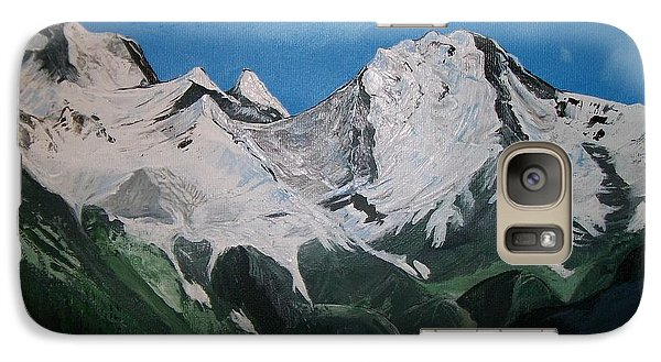 Galaxy Case featuring the painting Glacier Lake by Sharon Duguay
