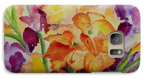 Galaxy Case featuring the painting Gladioli by Geeta Biswas