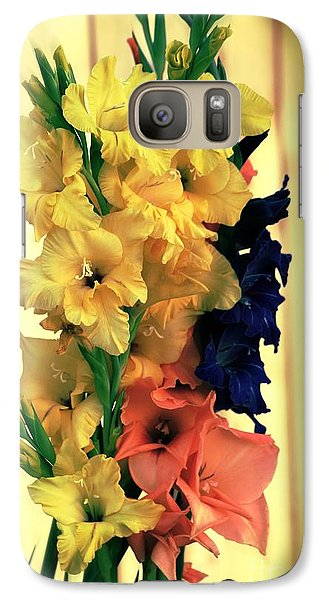 Galaxy Case featuring the photograph Gladiolus  2013 by Marjorie Imbeau