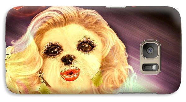 Galaxy Case featuring the digital art Glamour Girl-1 by Kathy Tarochione