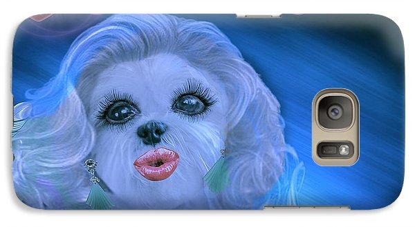 Galaxy Case featuring the digital art Glamour Girl-2 by Kathy Tarochione