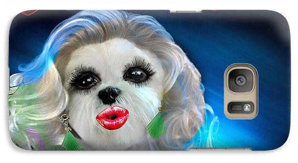 Galaxy Case featuring the digital art Glamour Girl-3 by Kathy Tarochione