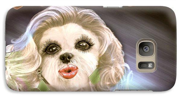Galaxy Case featuring the digital art Glamour Girl-4 by Kathy Tarochione