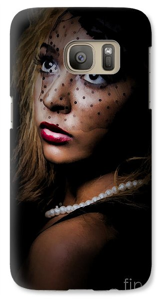 Galaxy Case featuring the painting Glamour by Linda Blair