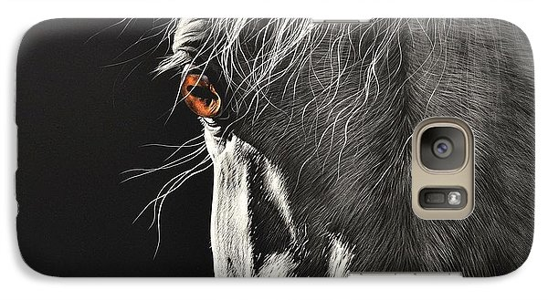 Galaxy Case featuring the drawing Glance by Elena Kolotusha