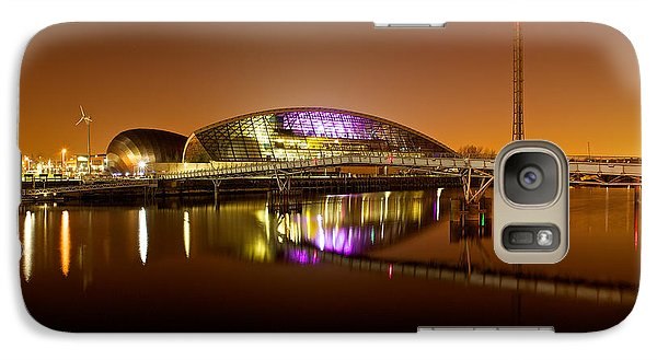 Galaxy Case featuring the photograph Glasgow Science Centre On A Tofee Coloured Sky by Stephen Taylor
