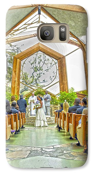 Galaxy Case featuring the photograph Glass Chapel Wedding by Joseph Hollingsworth