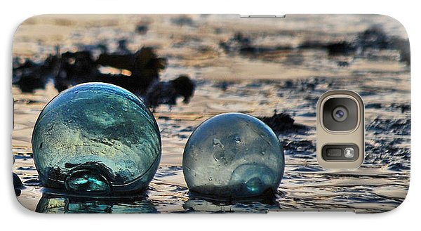 Galaxy Case featuring the photograph Glass Float At Sunset by Cynthia Lagoudakis