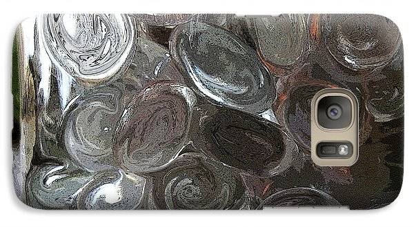 Galaxy Case featuring the digital art Glass In Glass 2 by Mary Bedy