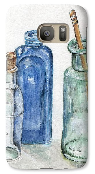 Galaxy Case featuring the painting Glass Jars by Tamyra Crossley