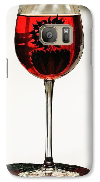 Galaxy Case featuring the photograph Glass Of Wine... by Al Fritz