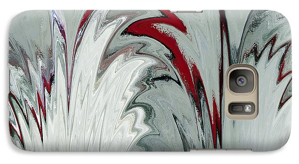Galaxy Case featuring the digital art Glass Plumes by Teresa Schomig