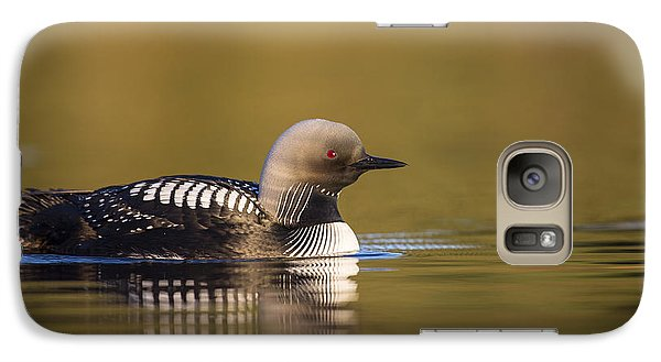 Glassy Waters And A Pacific Loon Galaxy S7 Case by Tim Grams