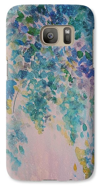 Galaxy Case featuring the painting Glicine Harmony by Kathleen Pio