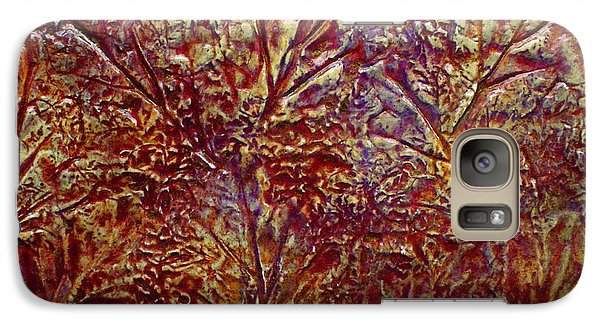 Galaxy Case featuring the painting Gliding Over Fall by D Renee Wilson