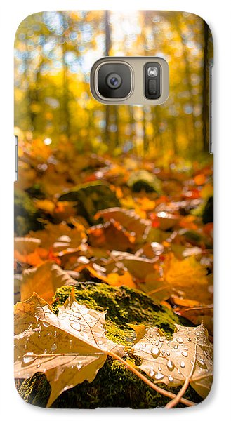Galaxy Case featuring the photograph Glistening Autumn Dew by Mark David Zahn