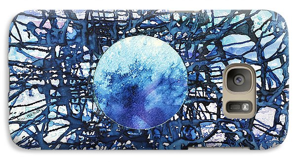 Galaxy Case featuring the painting Global Net by Joan Hartenstein